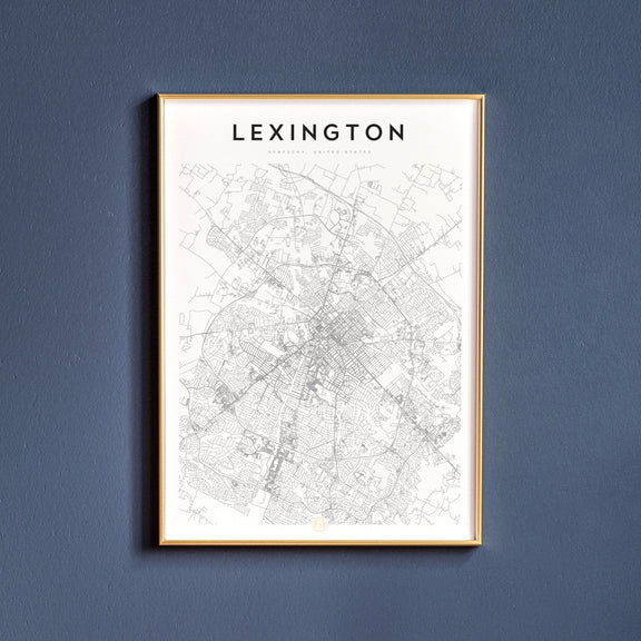Lexington, Kentucky map poster