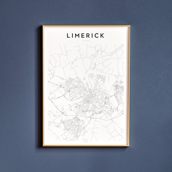 Limerick, Ireland map poster