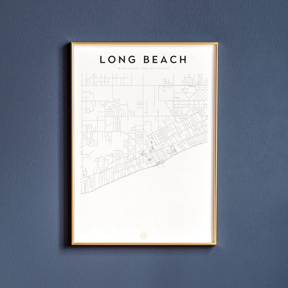 Long Beach, Mississippi map poster