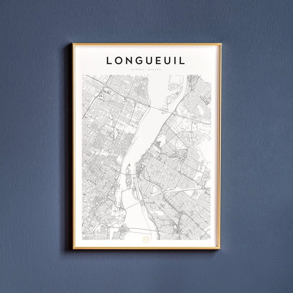 Longueuil, Quebec map poster