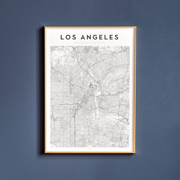 Los Angeles, California map poster