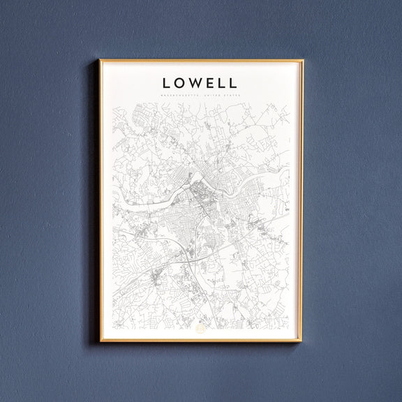 Lowell, Massachusetts map poster