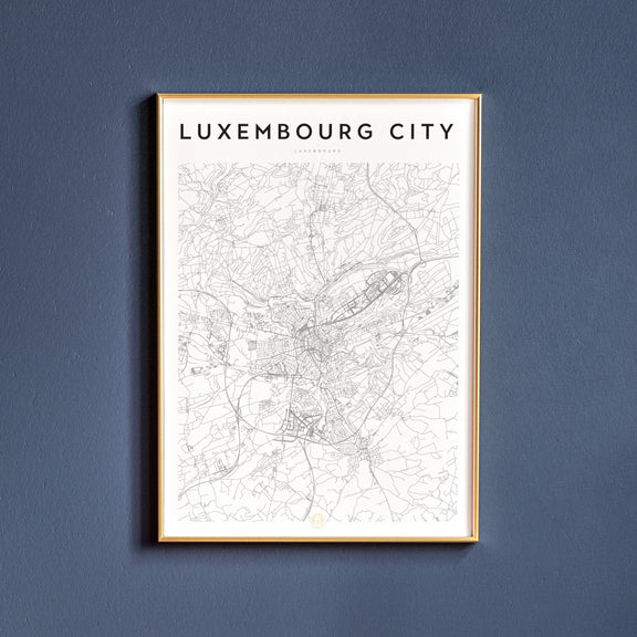 Luxembourg City, Luxembourg map poster
