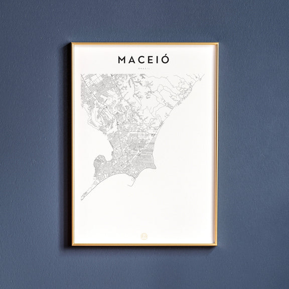 Maceió, Brazil map poster