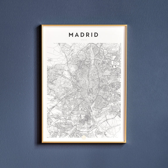 Madrid, Spain map poster