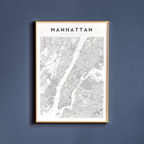 Manhattan, New York map poster