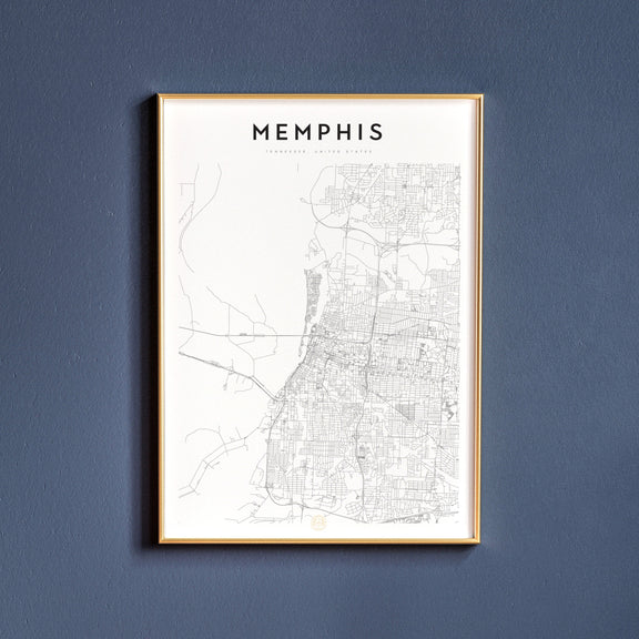 Memphis, Tennessee map poster