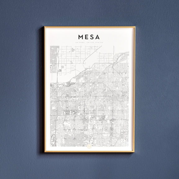 Mesa, Arizona map poster