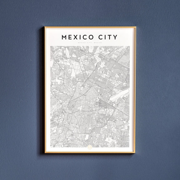 Mexico City, Mexico City map poster