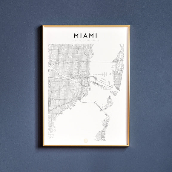Miami, Florida map poster