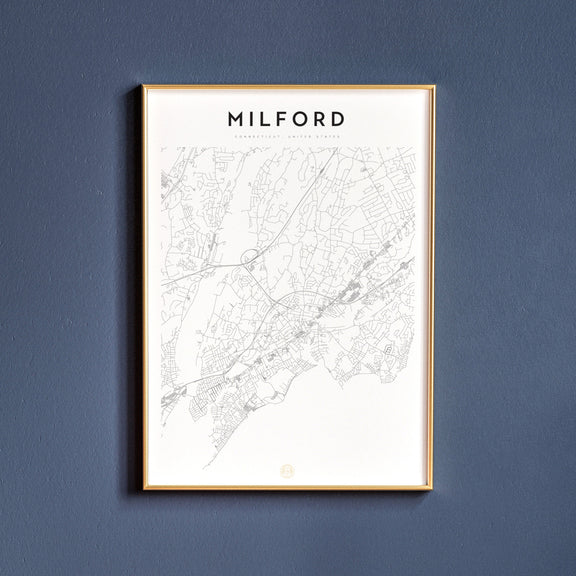 Milford, Connecticut map poster