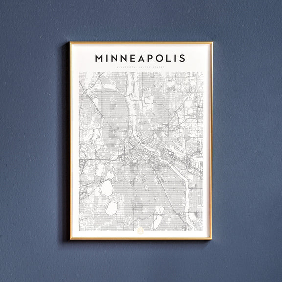 Minneapolis, Minnesota map poster