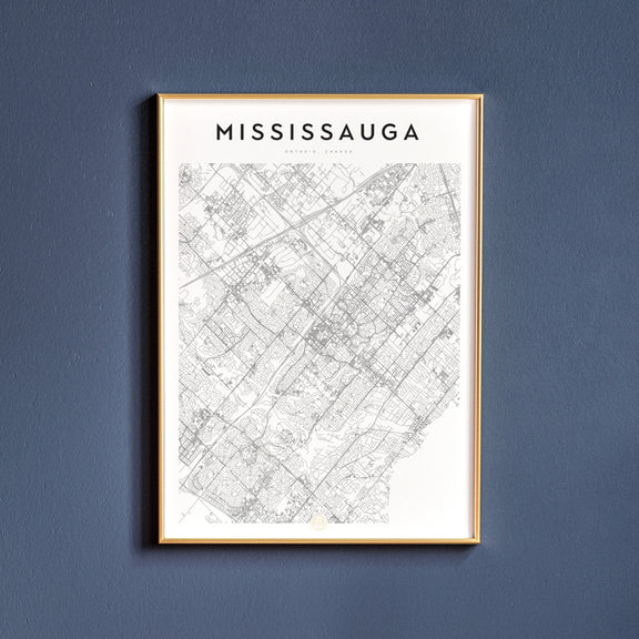 Mississauga, Ontario map poster