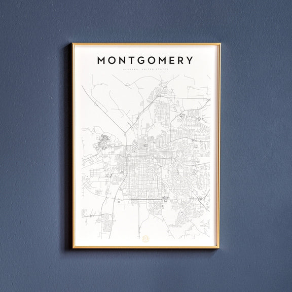Montgomery, Alabama map poster