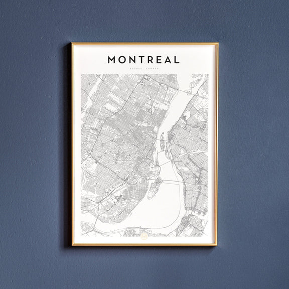 Montreal, Quebec map poster