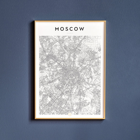 Moscow, Russia map poster