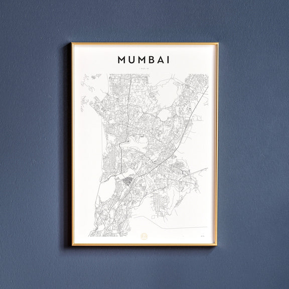 Mumbai, India map poster