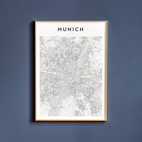 Munich, Germany map poster