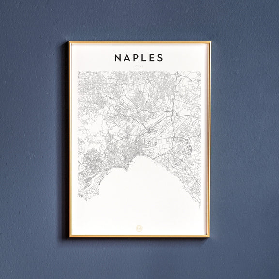 Naples, Italy map poster