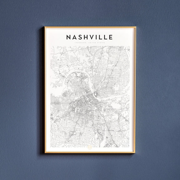Nashville, Tennessee map poster