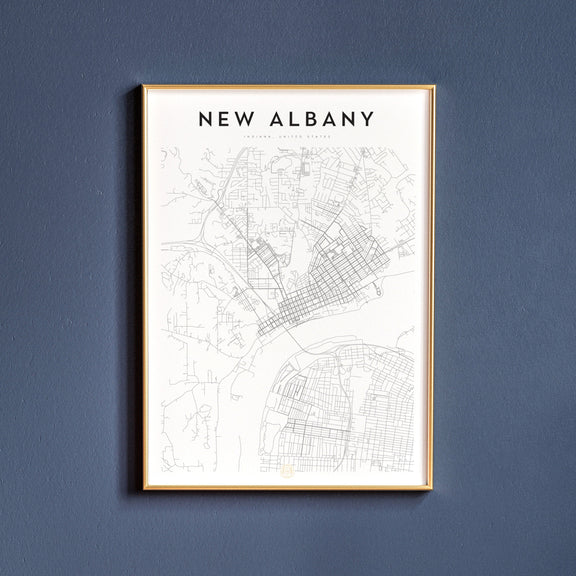 New Albany, Indiana map poster