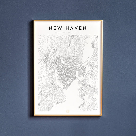 New Haven, Connecticut map poster
