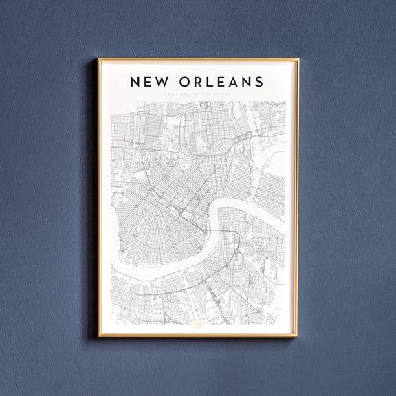 New Orleans, Louisiana map poster