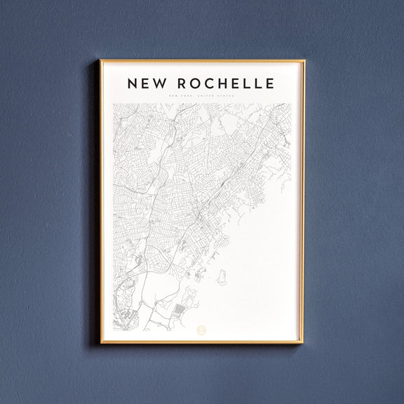 New Rochelle, New York map poster