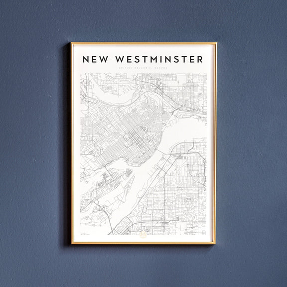 New Westminster, British Columbia map poster