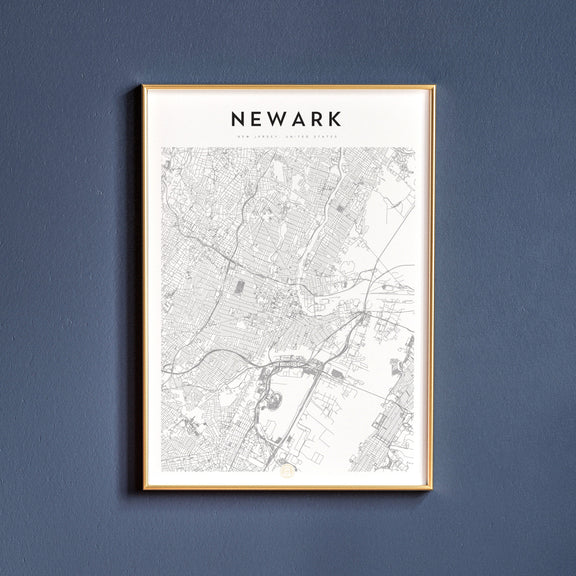 Newark, New Jersey map poster