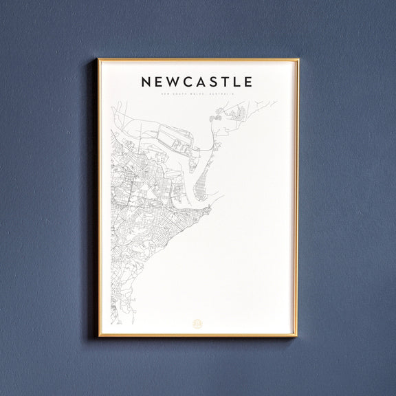 Newcastle, New South Wales map poster
