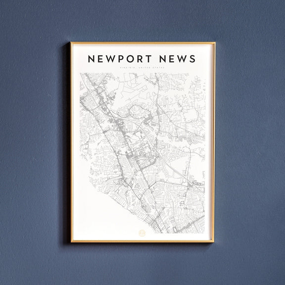 Newport News, Virginia map poster