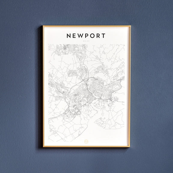Newport, Wales map poster
