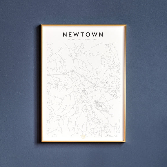 Newtown, Connecticut map poster