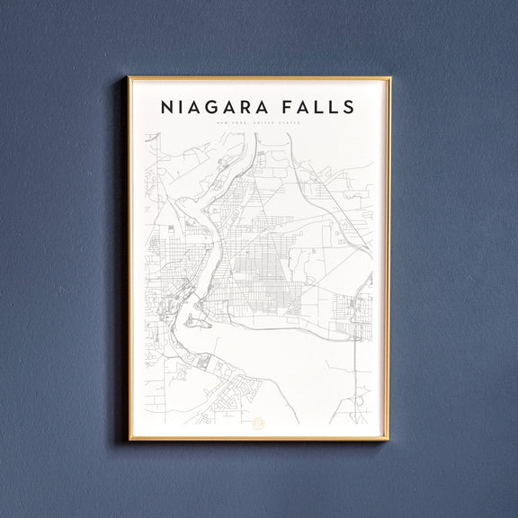 Niagara Falls, New York map poster