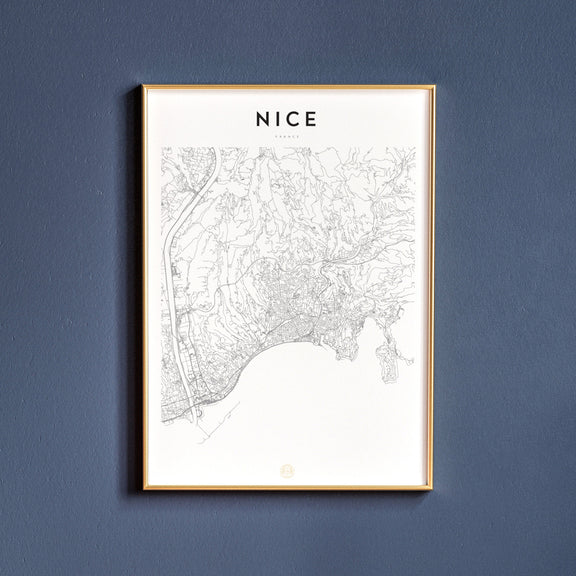 Nice, France map poster