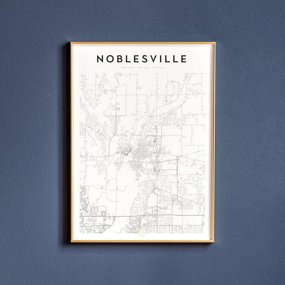Noblesville, Indiana map poster