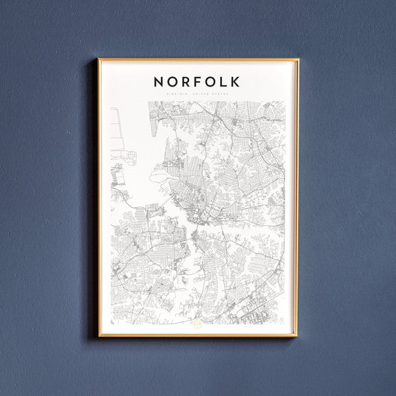 Norfolk, Virginia map poster