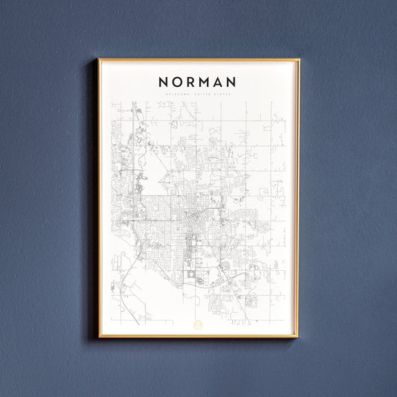 Norman, Oklahoma map poster
