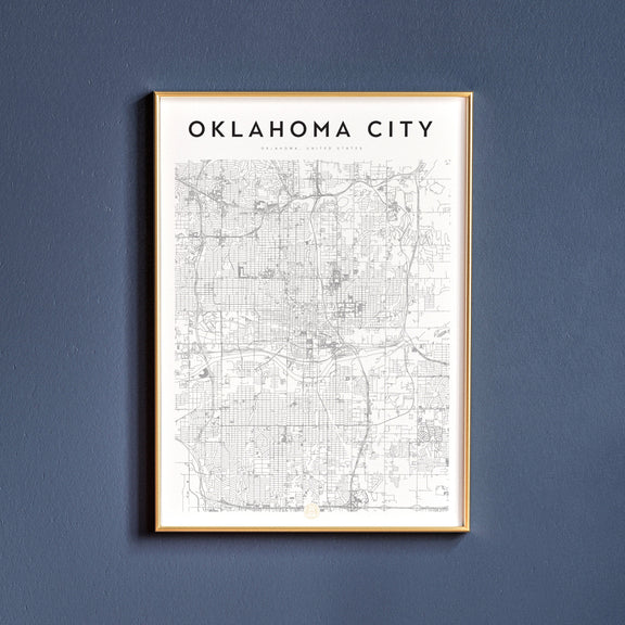 Oklahoma City, Oklahoma map poster