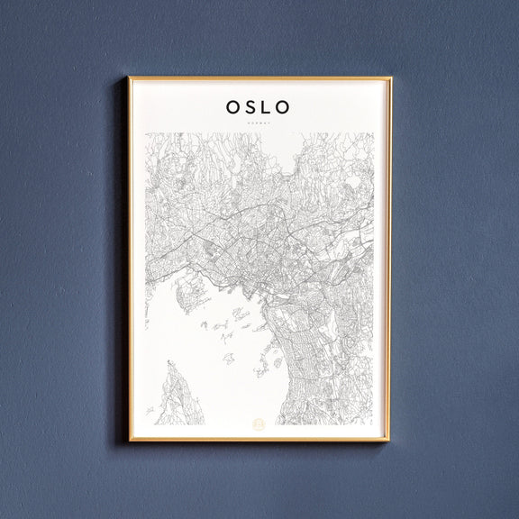 Oslo, Norway map poster