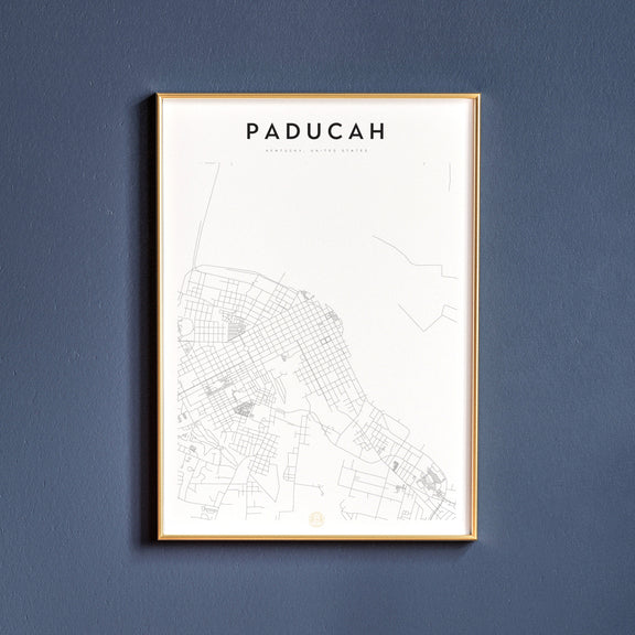Paducah, Kentucky map poster