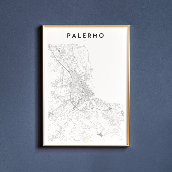 Palermo, Italy map poster