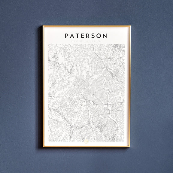 Paterson, New Jersey map poster