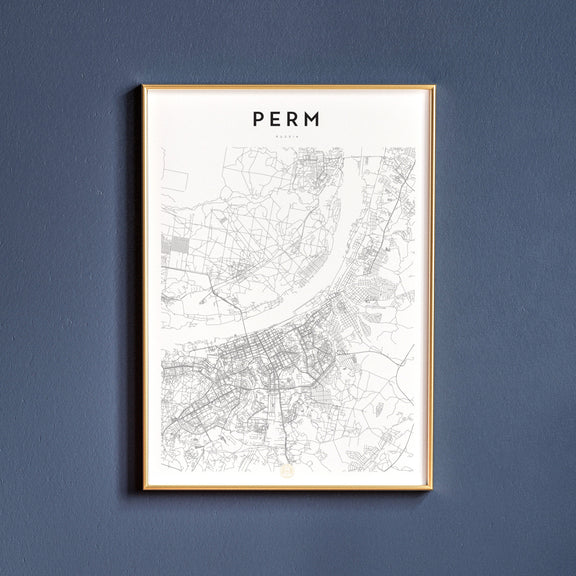 Perm, Russia map poster