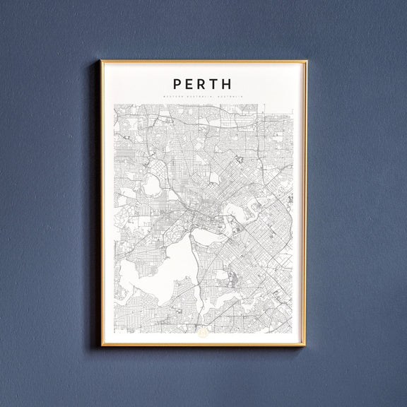 Perth, Western Australia map poster