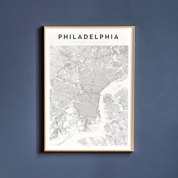Map poster of Philadelphia, Pennsylvania