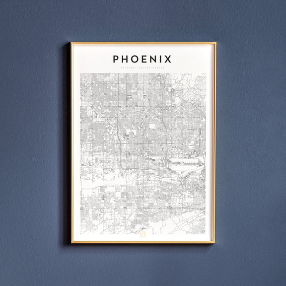 Phoenix, Arizona map poster