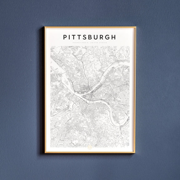Pittsburgh, Pennsylvania map poster