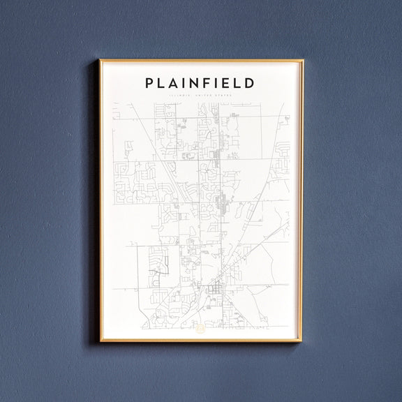 Plainfield, Illinois map poster